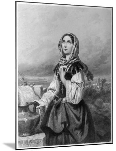 Saint Rosa di Lima Mystic--Mounted Giclee Print