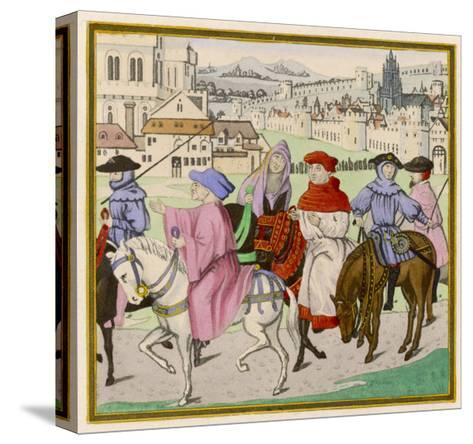 The Canterbury Pilgrims on the Road--Stretched Canvas Print