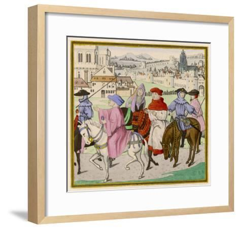 The Canterbury Pilgrims on the Road--Framed Art Print