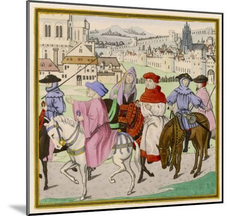 The Canterbury Pilgrims on the Road--Mounted Giclee Print
