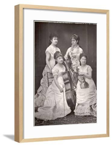 Quatuor Sainte-Cecile French String Quartet, Dosne, Meria-Mussa, Galatsin, Marie Tayau--Framed Art Print