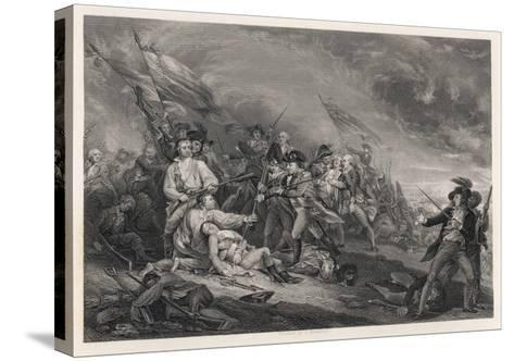 Battle of Bunker Hill-John Trumbull-Stretched Canvas Print