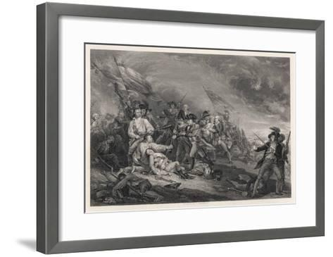 Battle of Bunker Hill-John Trumbull-Framed Art Print