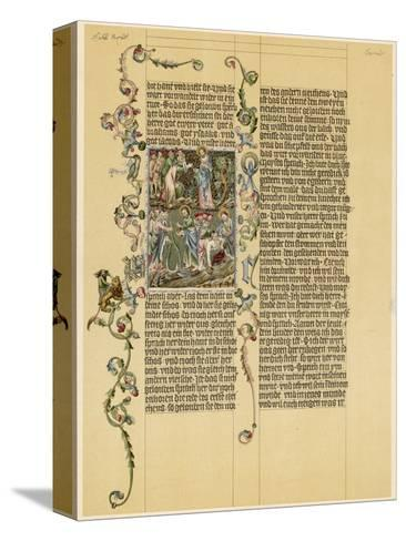 Illuminated Manuscript Known as the Wenzelbibel--Stretched Canvas Print