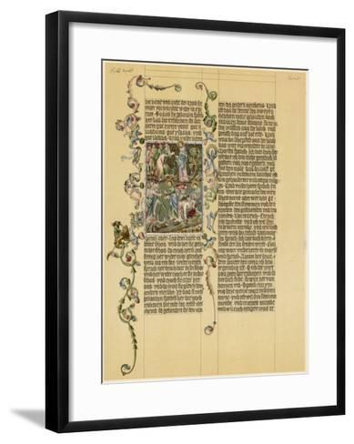 Illuminated Manuscript Known as the Wenzelbibel--Framed Art Print