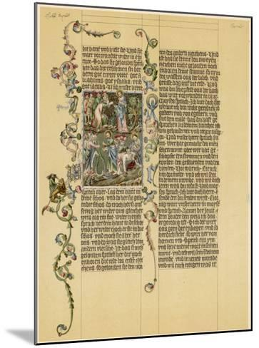 Illuminated Manuscript Known as the Wenzelbibel--Mounted Giclee Print