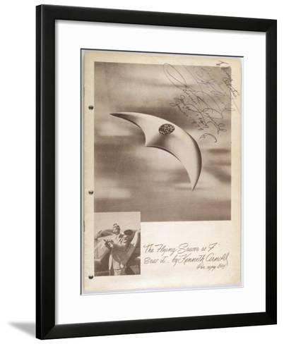 The Flying Saucer as I Saw It--Framed Art Print