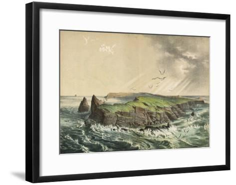 The Island of Saint-Paul in the Indian Ocean: a Former Volcano-Ferdinand Von Hochstetter-Framed Art Print