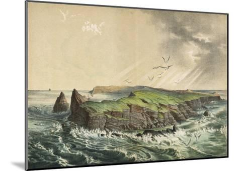 The Island of Saint-Paul in the Indian Ocean: a Former Volcano-Ferdinand Von Hochstetter-Mounted Giclee Print