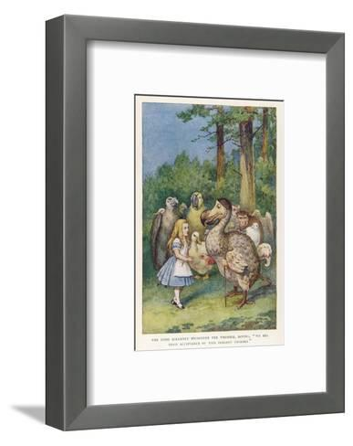 "The Dodo Solemnly Presented the Thimble Saying ""We Beg Your Acceptance of This Elegant Thimble""-John Tenniel-Framed Art Print"