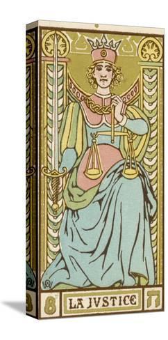Tarot: 8 La Justice-Oswald Wirth-Stretched Canvas Print
