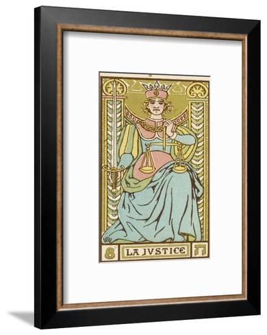 Tarot: 8 La Justice-Oswald Wirth-Framed Art Print