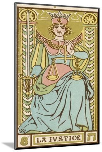 Tarot: 8 La Justice-Oswald Wirth-Mounted Giclee Print