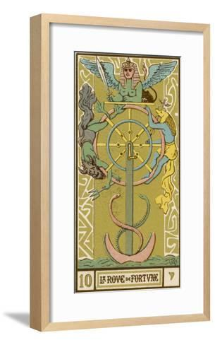 Tarot: 10 La Roue de Fortune, The Wheel of Fortune-Oswald Wirth-Framed Art Print