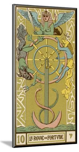 Tarot: 10 La Roue de Fortune, The Wheel of Fortune-Oswald Wirth-Mounted Giclee Print