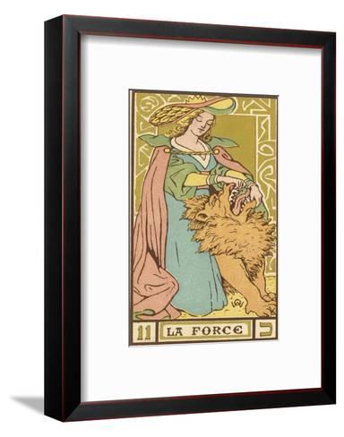 Tarot: 11 La Force, Strength-Oswald Wirth-Framed Art Print