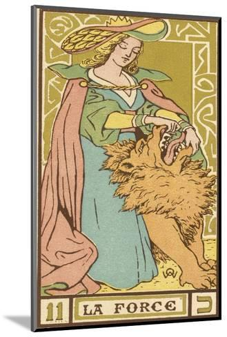 Tarot: 11 La Force, Strength-Oswald Wirth-Mounted Giclee Print