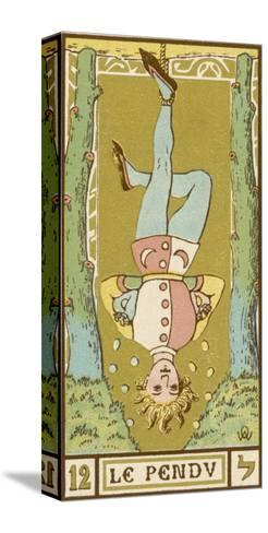 Tarot: 12 Le Pendu, The Hanged Man-Oswald Wirth-Stretched Canvas Print