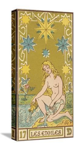 Tarot: 17 Les Etoiles, The Stars-Oswald Wirth-Stretched Canvas Print