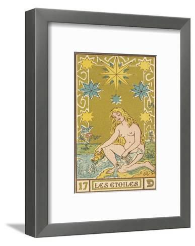 Tarot: 17 Les Etoiles, The Stars-Oswald Wirth-Framed Art Print