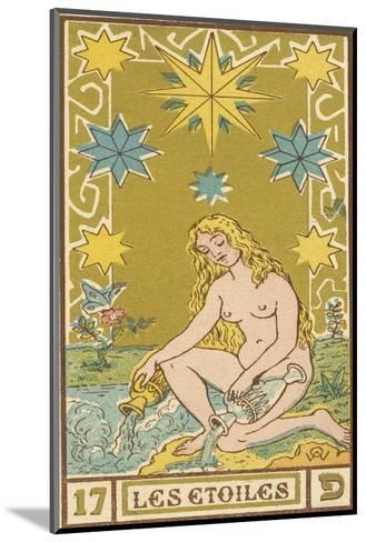 Tarot: 17 Les Etoiles, The Stars-Oswald Wirth-Mounted Giclee Print