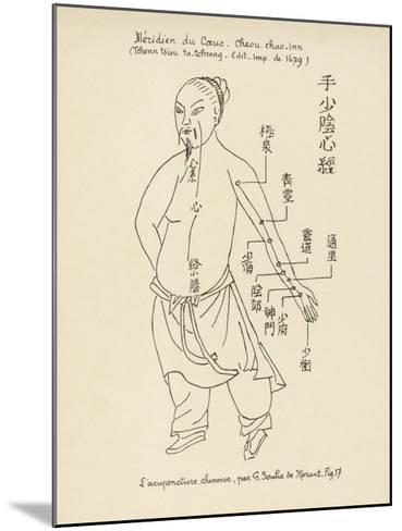 Acupuncture the Meridian of the Heart-Tchenn Tsiou Ta-tcheng-Mounted Giclee Print
