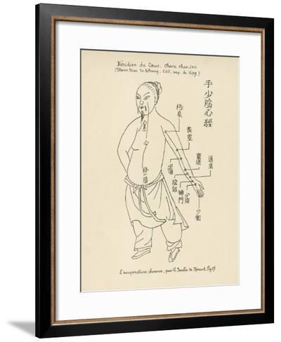 Acupuncture the Meridian of the Heart-Tchenn Tsiou Ta-tcheng-Framed Art Print