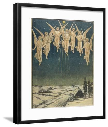 Angels Hovering Over the Swedish Countryside--Framed Art Print