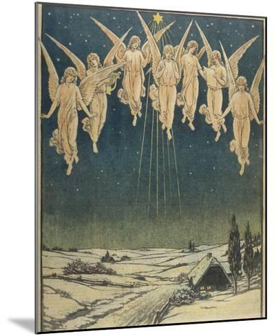 Angels Hovering Over the Swedish Countryside--Mounted Giclee Print