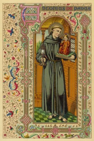 Saint Antony of Padua Portuguese Theologian--Stretched Canvas Print