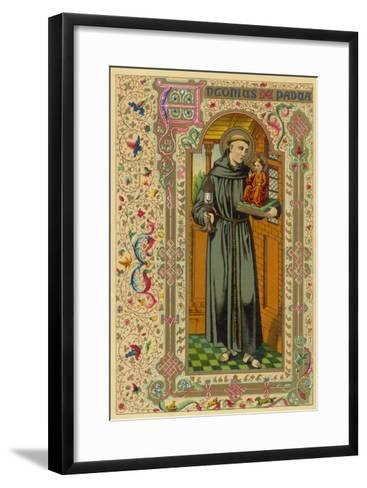 Saint Antony of Padua Portuguese Theologian--Framed Art Print
