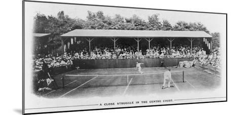 Men's Singles Match on Centre Court at Wimbledon--Mounted Giclee Print