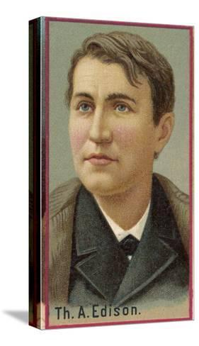 Thomas Alva Edison American Electrical Engineer and Inventor--Stretched Canvas Print