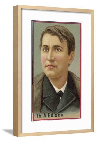 Thomas Alva Edison American Electrical Engineer and Inventor--Framed Art Print