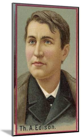 Thomas Alva Edison American Electrical Engineer and Inventor--Mounted Giclee Print