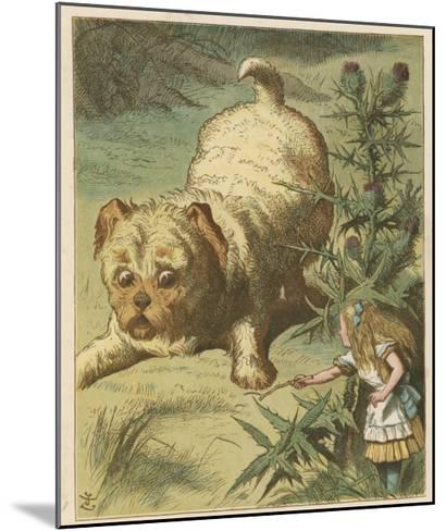 Alice and the Puppy-John Tenniel-Mounted Giclee Print