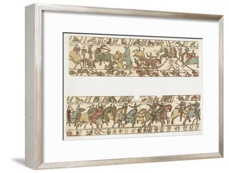 Bayeux Tapestry: Battle of Hastings Battle Rages--Framed Art Print
