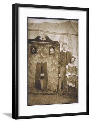 Travelling Ventriloquist Show--Framed Art Print