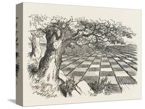 Looking Glass Country-John Tenniel-Stretched Canvas Print