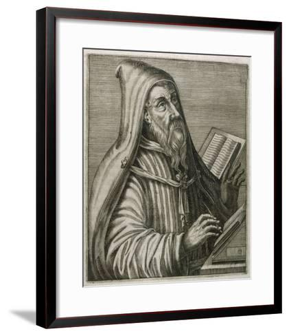 Saint Augustine of Hippo Early Christian Church Father and Philosopher-Andre Thevet-Framed Art Print