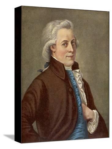 Wolfgang Amadeus Mozart Austrian Composer-Tischbein-Stretched Canvas Print