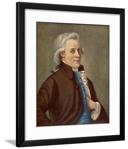 Wolfgang Amadeus Mozart Austrian Composer-Tischbein-Framed Art Print