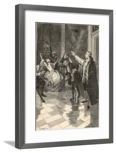 Mesmer Gives a Demonstration at His House in the Place Vendome Paris--Framed Art Print