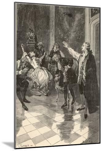 Mesmer Gives a Demonstration at His House in the Place Vendome Paris--Mounted Giclee Print