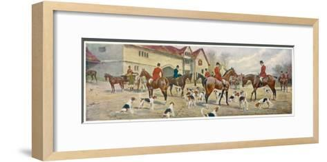 At the Meet-George Wright-Framed Art Print