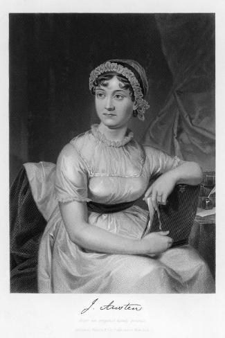 Jane Austen English Novelist--Stretched Canvas Print