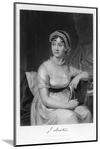 Jane Austen English Novelist--Mounted Giclee Print