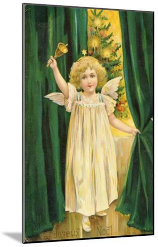 Little Angel with a Little Bell Summons Us to Come to the Christmas Tree--Mounted Giclee Print