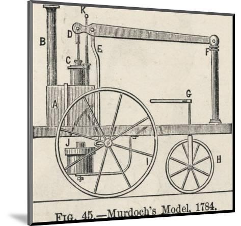 William Murdoch's Locomotive Engine-Robert H. Thurston-Mounted Giclee Print
