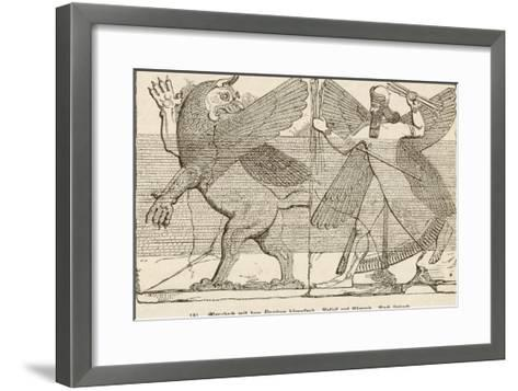 In Ancient Assyria Merodach Does Battle with a Dragon--Framed Art Print
